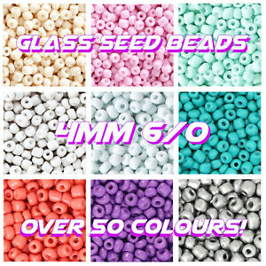 RAINBOW💛🧡❤️️💚💙6/0 GLASS SEED BEADS 4MM ROCAILLES SPACER 20G BAG JEWELLERY