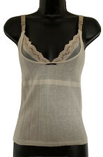 Christian Dior Women's Tank Top Ivory Alpaca Lace Trim Camisole Size 4 France