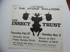 1969 THE INSECT TRUST Concert Poster Stone Ballroom New Haven CT Yale ORIGINAL