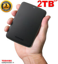"Neuf 2To 2,5"" Toshiba Canvio Basic 2TB Disque dur Externe Portatif 2 To USB3.0"