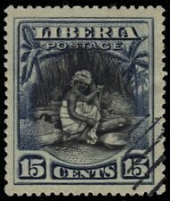 """LIBERIA 119 - Cultural Heritage """"Spinning Cotton"""" (pb26010)"""