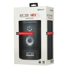 808 Audio HEX TL Rechargeable Portable Speaker With Bluetooth Black