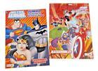 Justice League  The Avengers Wonder Woman Kids Coloring Book Activity Books Set