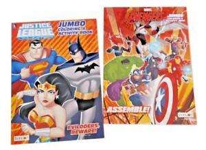 Justice League & The Avengers Wonder Woman Kids Coloring Book Activity Books Set
