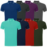 Mens Pique Polo Short Sleeve Tee Shirts Top Designer Plain Cotton Golf Shirt New