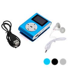 3 Farbe Mini USB Clip MP3 Player LCD Screen Support 32GB Micro SD TF + Ohrhörer