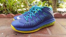 Mens Nike Air Lebron X 10 low sprite blue green OSU sz 9.5 james LBJ white IX 8