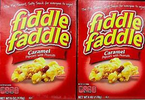2Pk Fiddle Faddle Caramel Popcorn with Peanuts ~* FAST FREE SHIPPING ! *~