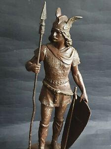 Antike Metall Figur  SIEGFRIED  Frankreich um ca.1900  Höhe 41cm
