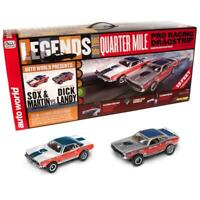 Auto World SRS332 13' Legends of the Quarter Mile Drag Slot Race Set HO Scale