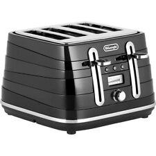 Delonghi CTA4003BK Avvolta 1800W 4 Slice Wide Slot Toaster-Black