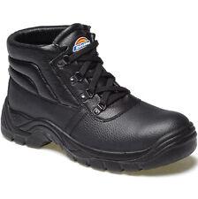 DICKIES REDLAND STEEL TOE CAP SAFETY BOOTS UK 9 EU 43 FA23330 BLACK CHUKKA
