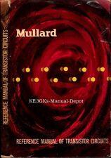 Mullard Reference Manual of Transistor Circuits * CDROM * PDF