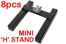 """8 x Mini """"H"""" Floor Stand suit LED PAR Can Mount Stage Lighting Effects Par56"""