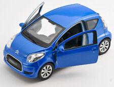 BLITZ VERSAND Citroen C1 / C 1 blau / blue Welly Modell Auto 1:34-39 NEU & OVP