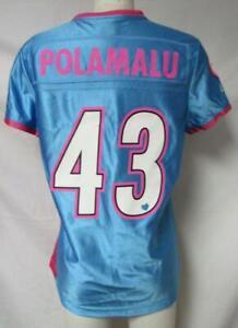 Pittsburgh Steelers Womens Size Medium Troy Polamalu #43 Jersey A1 2279
