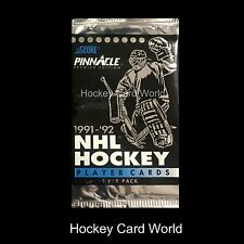 (HCW) 1991-92 Score Pinnacle Edition Hockey Hobby Pack - 12 Cards Per Pack