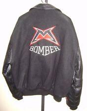 Vintage HTF Marzocchi Bomber Men's Leather Wool Jacket Size Large