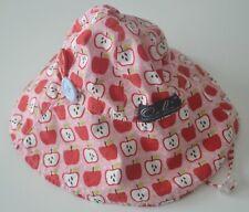 Girls Sz Small OOBI Pink Red Apple Print Beach Sun Hat