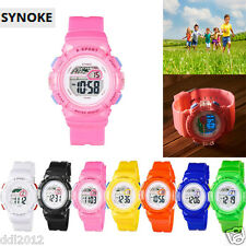 SYNOKE Children Boy Digital LED Quartz Alarm Date Sports Wrist Watch Waterproof
