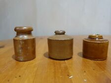 More details for 3 small stoneware ink pots