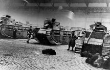 Battle of George Square Glasgow 1919 Tanks Soldiers 6x4 Inch Reprint Photo