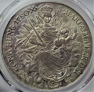 1 Taller 1780B •X• SK-PD Hungary II Radiant Madonna and child AU58 / PCGS V-Rare