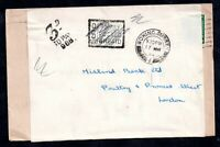 GB KGVI 1952 Re-used Cover 3d Postage Due To Pay WS18889