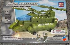 Army Double Rotor Helicopter BricTek Building Block Construction Toy Military