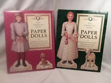 American Girl Samantha's / Felicity's Paper Dolls Pleasant Company Like New