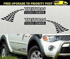 Mitsubishi TRITON 4WD ML MN MK TURBO DIESEL DECALS 300mm Stickers