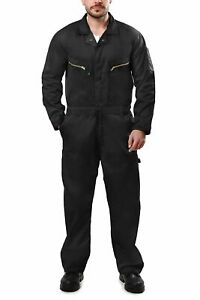 Men's Coverall Long Sleeve Cotton Blend Zip Front Pocket