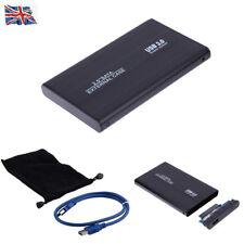 "2.5"" INCH BLACK HARD DISK DRIVE ENCLOSURE USB 3.0 EXTERNAL SATA HDD CASE CADDY"