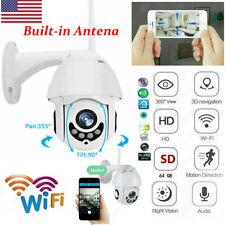 Wireless Ip Ir Security Camera Home Surveillance Outdoor Cctv Hd Ptz Smart Wifi