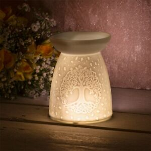 CeramicTree Of Life Wax Melt/Oil Burner Ideal Gift LP46722 New in Box Giftboxed