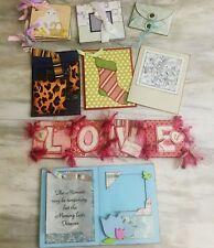 Lot of 8 Stampin Up Hand Made Cards Journals Albums Bookmarks Etc.