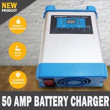 NEW 7 Stage 50 AMP Automatic Caravan Battery Charger 40 to 500AH