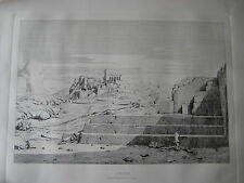 "Athenes le pnyx, Areopagus, I' Acropolis et I"" Hymette Etching Print, Unframed"