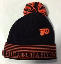 Philadelphia Flyers REEBOK Knit Beanie Toque Winter Hat Skull New Face Off Pom