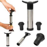 Wine Bottle Vacuum Saver Sealer Preserver Pump w/ 2 Stopper Tool Reusable US
