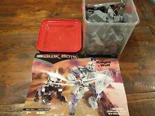 Transforming Blok Bots knight wolf plane Mega Bloks 9356