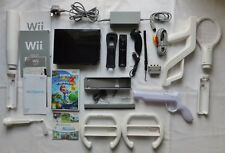 BLACK NINTENDO WII SPORTS RESORT CONSOLE PACKAGE + LEADS & MARIO GALAXY 2 GAME
