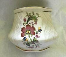 Vintage ~ English ~ Sadler ~ Open Sugar ~ Embossed Trellis / Floral / Gold Trim
