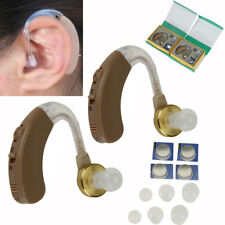 1 Pair of Digital Hearing Aid Aids Kit Behind the Ear BTE Sound Voice Amplifier