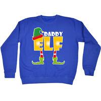 Funny Sweatshirt Daddy Elf Birthday Joke Humour tee Gift Novelty JUMPER