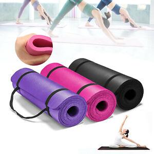 61cmx183cm Yoga Mat 15mm Thick Gym Exercise Fitness Pilates Workout Mat Non Slip
