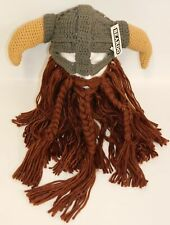 Official Beardo Battle Viking Horned Hat & Beard NWT Kids Warrior Brown Beard