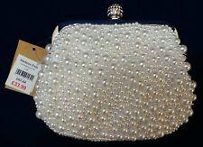 Bridal clutch bag - Madame Posh Coco Faux Pearl