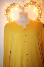 NEW YELLOW COTTON CARDIGAN KNIT TOP MARKS SPENCER £29 SZ 22 24 XMAS GIFT LOOK