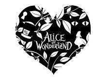 Alice in Wonderland-Secret HeartB Typography quote Decorative Vinyl Wall Sticker